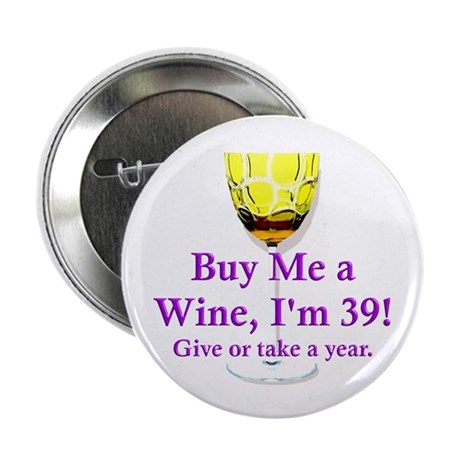 """40th Birthday 2.25"""" Button (100 pack)"""