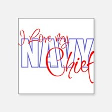 "Cute Navy wife Square Sticker 3"" x 3"""