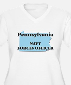 Pennsylvania Navy Forces Officer Plus Size T-Shirt