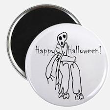 Happy Halloween Skeleton Magnet