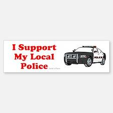 Support Local Police Bumper Bumper Bumper Sticker