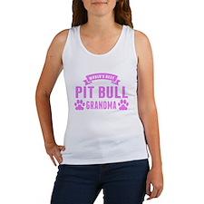 Worlds Best Pit Bull Grandma Tank Top