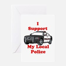 Support Local Police Greeting Cards