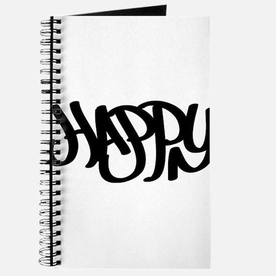 Happy graffiti tag Journal