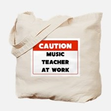 Music Teacher Caution Tote Bag