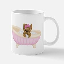 Yorkie in Bathtub Mugs