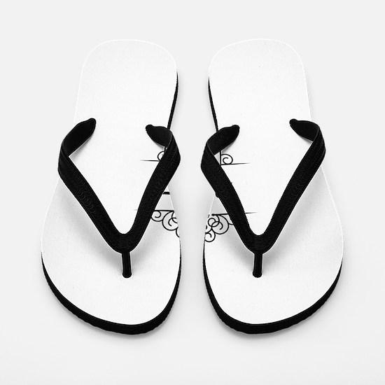 Sukkot in Hebrew letters Flip Flops