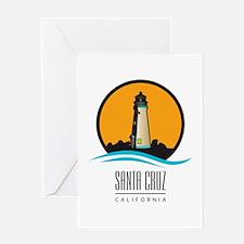 Santa Cruz California CA Light Hous Greeting Cards