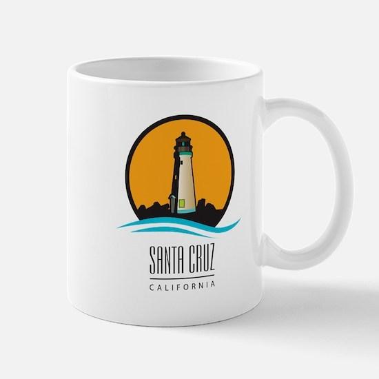 Santa Cruz California CA Light House Mugs