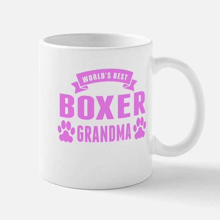 Worlds Best Boxer Grandma Mugs