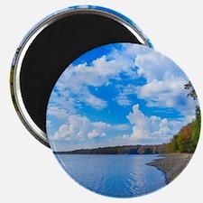 lakeside scenery Magnet