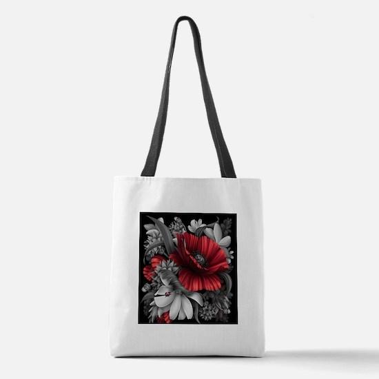 Poppy Power Polyester Tote Bag