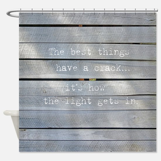 Rustic Modern Inspirational Quote Shower Curtain