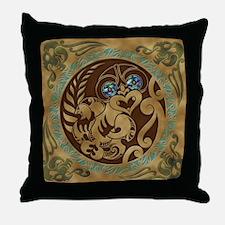 Hei Tiki / Nga Hau E Wha Throw Pillow