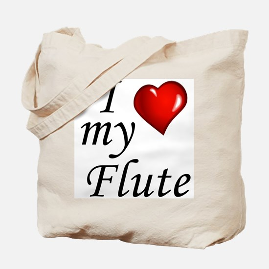 I Love my Flute Tote Bag