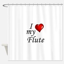 I Love my Flute Shower Curtain