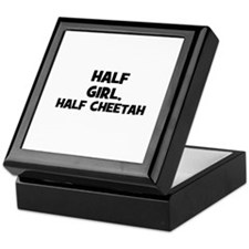 half girl, half cheetah Keepsake Box