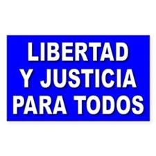 LIBERTAD Rectangle Decal