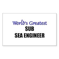 Worlds Greatest SUB SEA ENGINEER Sticker (Rectangu