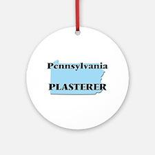 Pennsylvania Plasterer Round Ornament