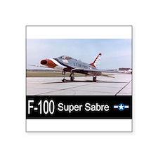 "Unique Thunderbirds usaf Square Sticker 3"" x 3"""