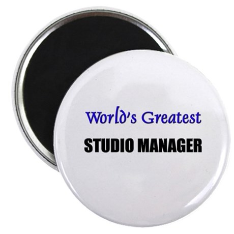 """Worlds Greatest STUDIO MANAGER 2.25"""" Magnet (10 pa"""