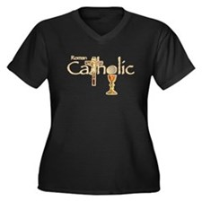 Beliefs Women's Plus Size V-Neck Dark T-Shirt