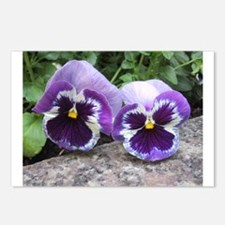 Couple of Pansies Postcards (Package of 8)