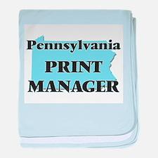 Pennsylvania Print Manager baby blanket