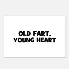 Old Fart, Young Heart Postcards (Package of 8)