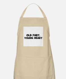 Old Fart, Young Heart BBQ Apron