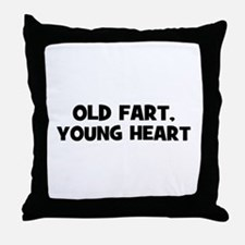 Old Fart, Young Heart Throw Pillow