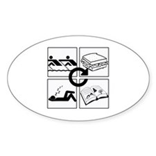 Cute Eat sleep study Decal