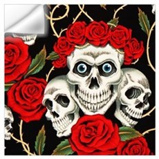 Skulls and Roses Wall Decal