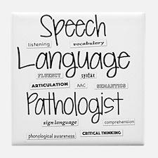 Unique Speech language pathologist Tile Coaster