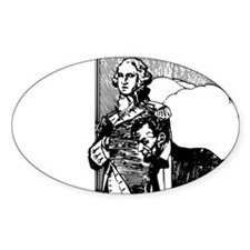 abraham lincoln george washing Decal