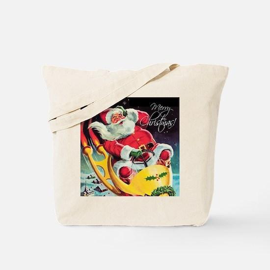 Santa Claus Rocket  Tote Bag