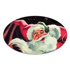 Santa Claus Rocket Decal