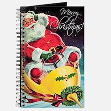Santa Claus Rocket Journal