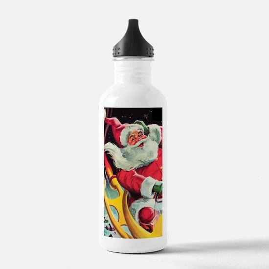 Santa Claus Rocket Water Bottle