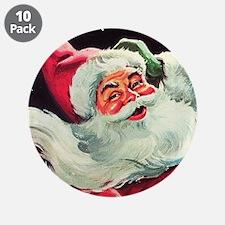 "Santa Claus Rocket 3.5"" Button (10 pack)"