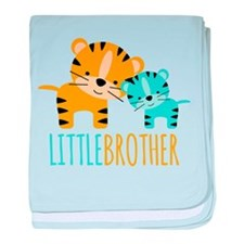 Little Brother Tiger baby blanket