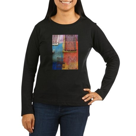 Santana Row Women's Long Sleeve Dark T-Shirt