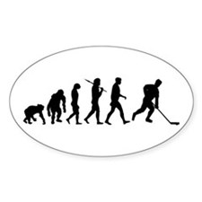 Evolution of Ice Hockey Oval Decal
