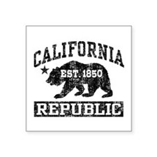 "Unique Made california Square Sticker 3"" x 3"""