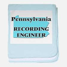 Pennsylvania Recording Engineer baby blanket