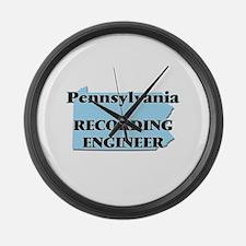 Pennsylvania Recording Engineer Large Wall Clock