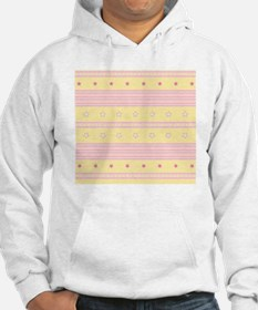 Striped rose and yellow backgrou Hoodie