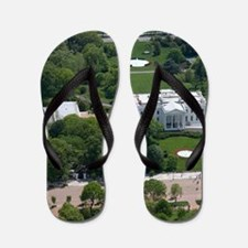 White House Aerial Photograph Flip Flops