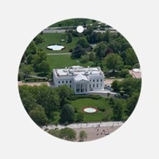 White House Aerial Photograph Round Ornament